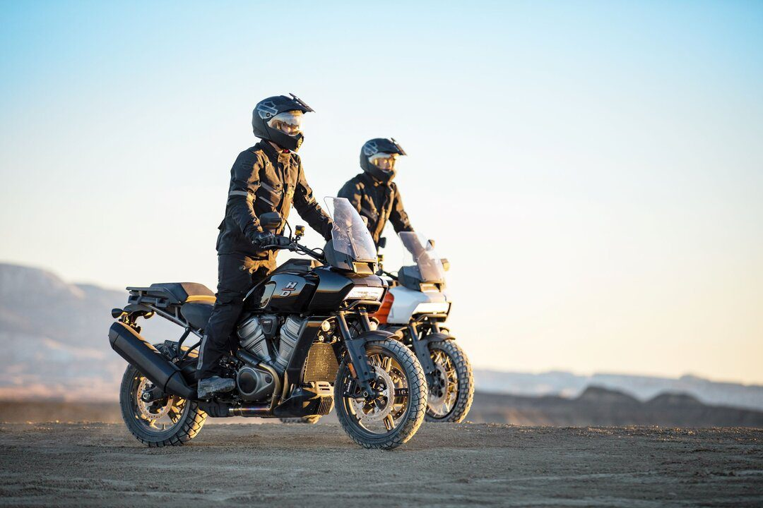 two harley davidson pan america's off-road - motorcycle fitness
