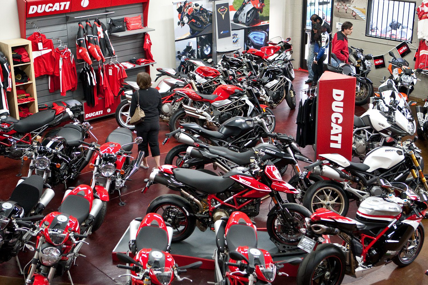 ducati showroom - how to test ride a motorcycle