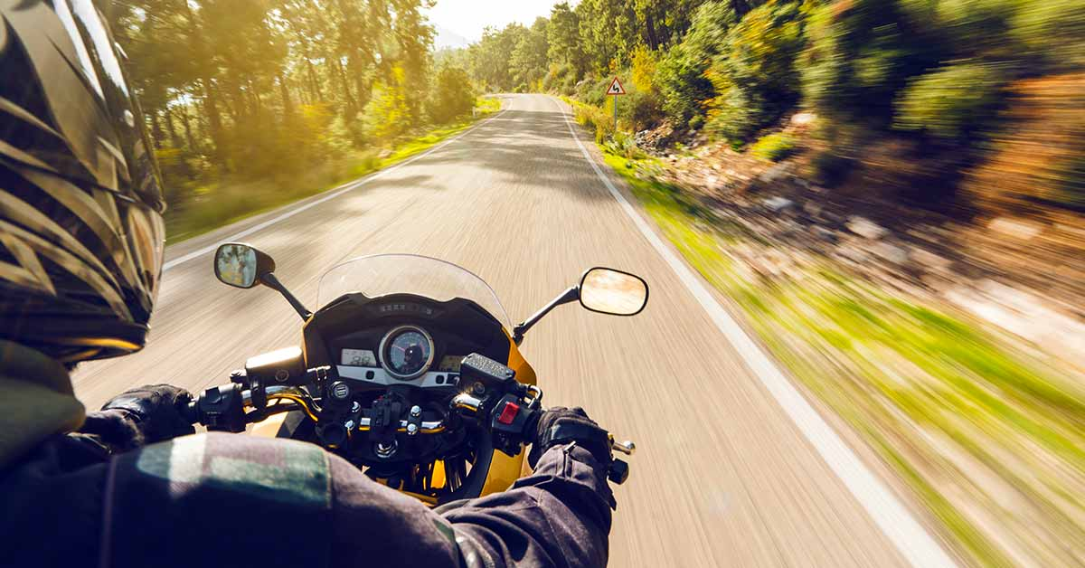 listening to music while riding a motorcycle