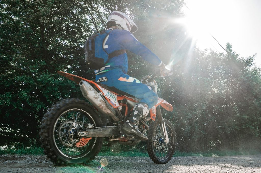 off-road using motorcycle backpack