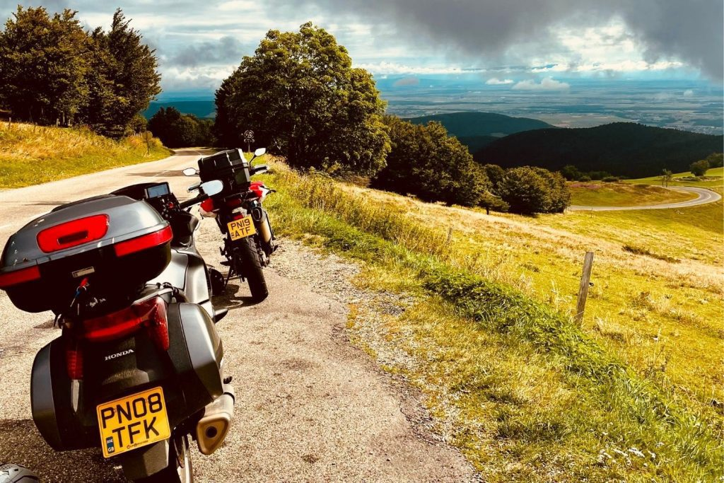 motorcycles in vosges mountains - touring troubles