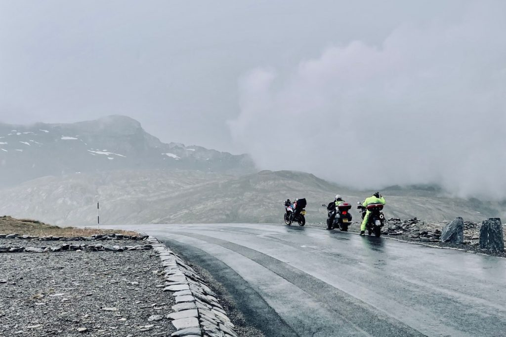 motorcycles on col d'isrean - the start of touring troubles